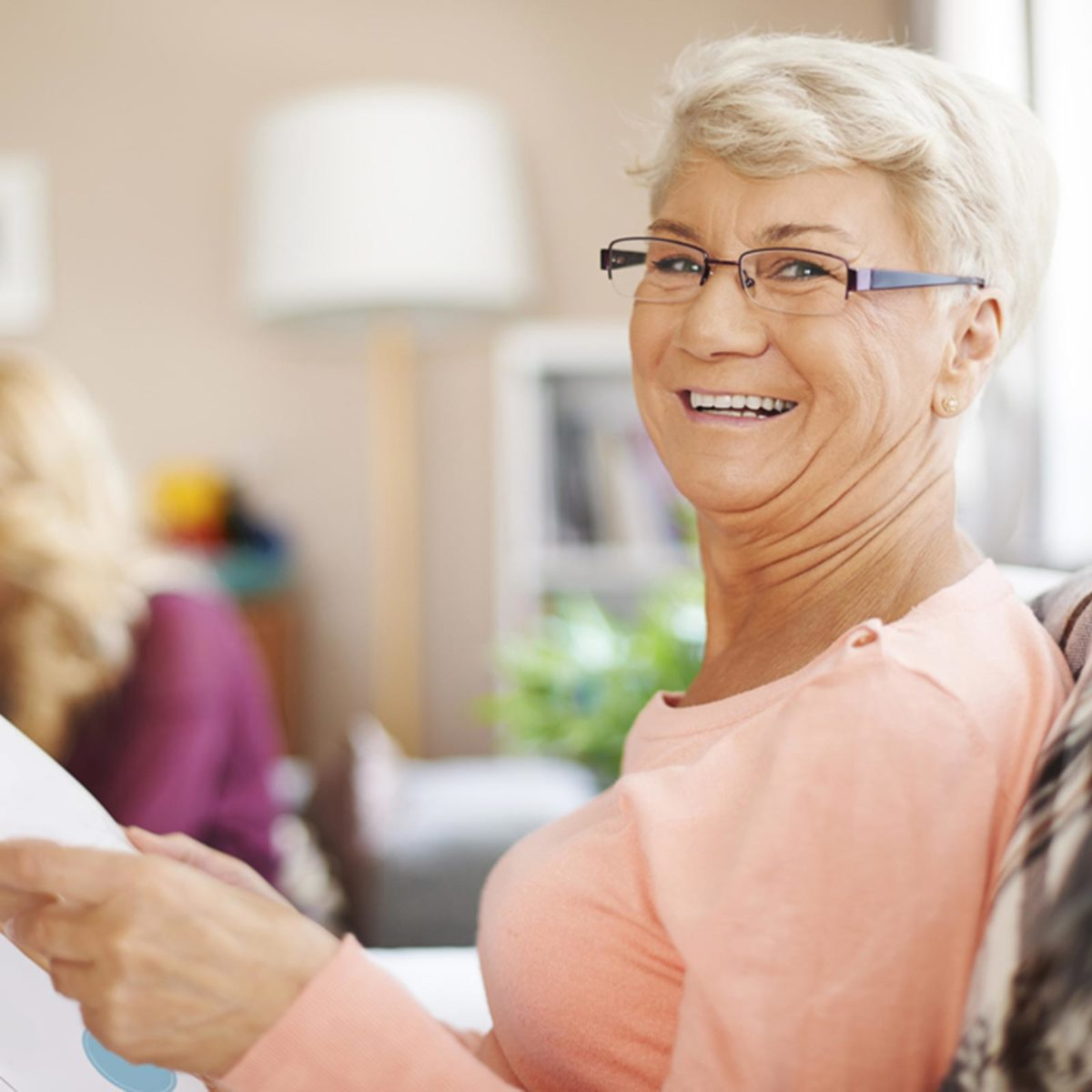 Happy Quest Home Care elderly with caregiver