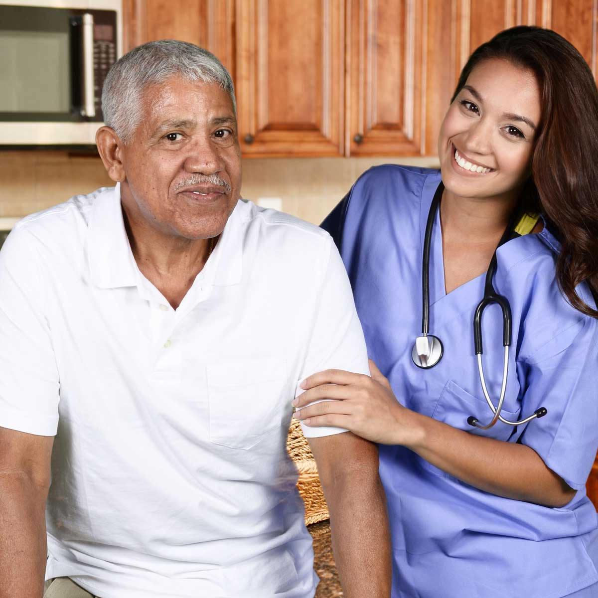 Happy Quest Elderly with caregiver